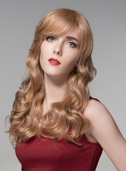 Mishair® Glamorous Long Wavy Capless Human Hair Wig 22 Inches