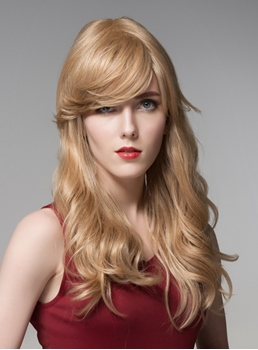 Mishair® Beautiful Long Bottom Wave Human Hair Capless Wig 22 Inches