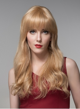 Mishair® Sweety Long Wavy Human Hair Capless Wig 22 Inches