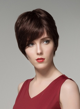 Mishair® Hot Sale Short Straight Capless Human Hair Wig 6 Inches