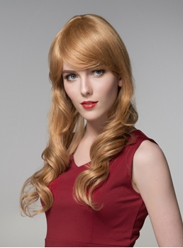Mishair® Elegant Long Wavy Capless Human Hair Wig 24 Inches