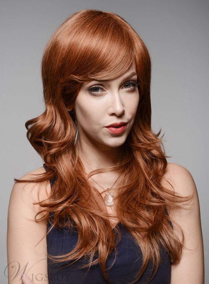 Mishair? Layered Long Wavy Charming Human Hair Capless Wig 22 Inches 11932325