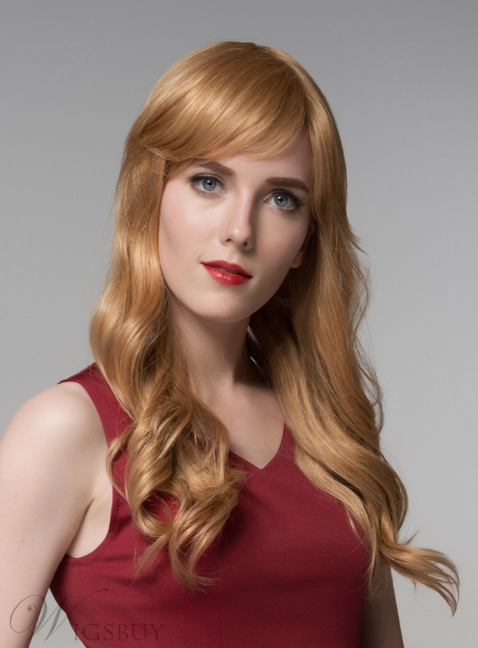 Mishair® Charming Long Wavy Capless Human Hair Wig 24 Inches 11919952