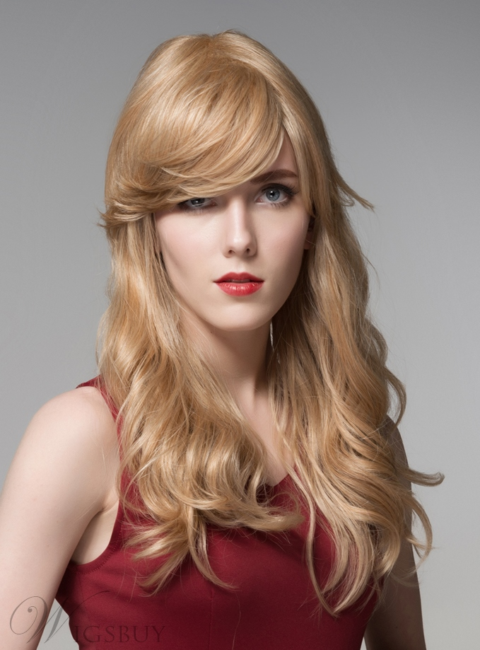 Mishair? Beautiful Long Bottom Wave Human Hair Capless Wig 22 Inches 11919955