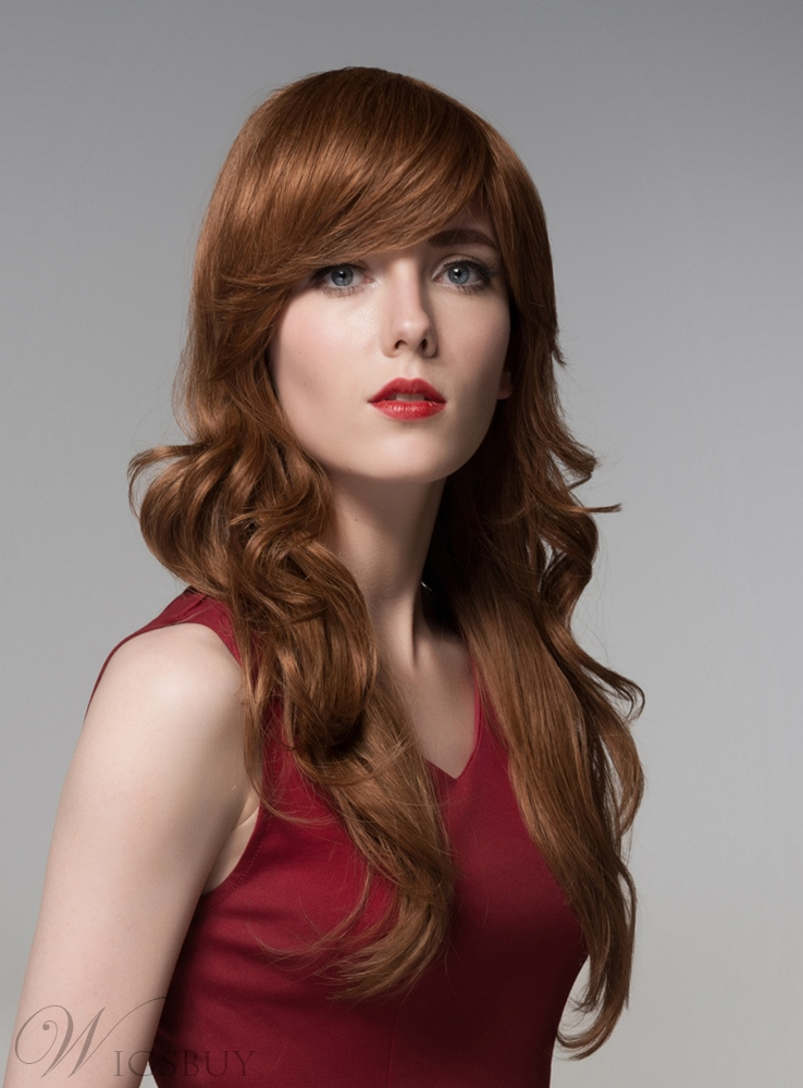 Mishair? Graceful Long Wavy Capless Human Hair Wig 24 Inches 11919966