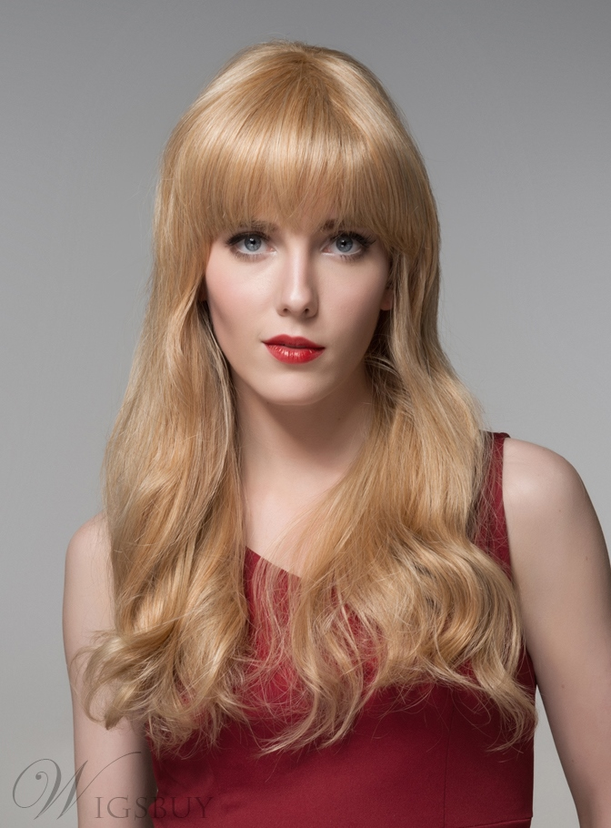Mishair® Sweety Long Wavy Human Hair Capless Wig 22 Inches 11919956