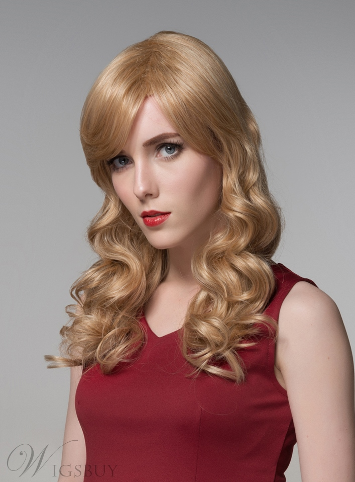 Mishair® Attractive Long Romantic Wave Capless Human Hair 22 Inches 11919971