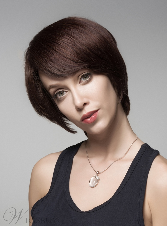 Mishair? New Arrival Short Straight Capless Human Hair Capless Wig 6 Inches 11923334