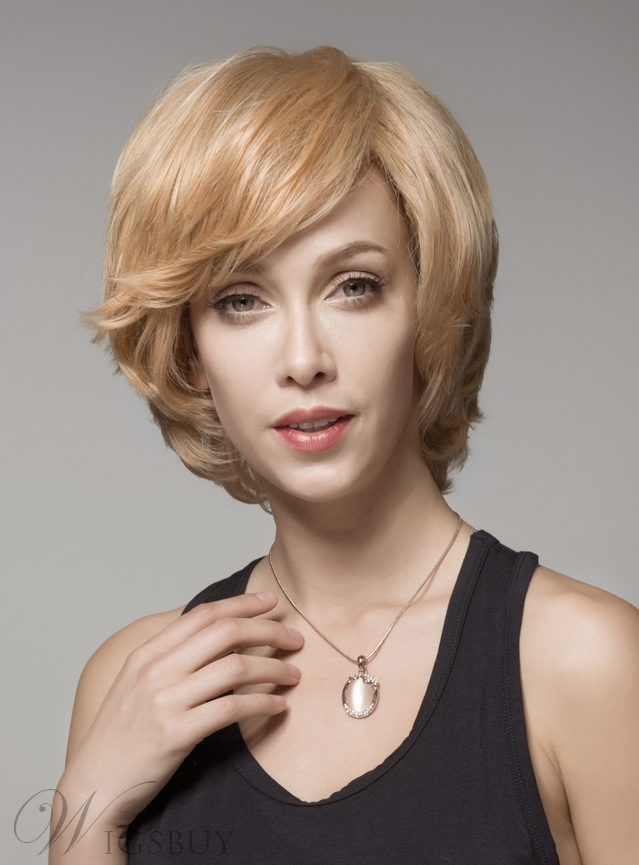 Mishair® Beautiful Layered Short Wavy Capless Human Hair Wig 8 Inches 11923330