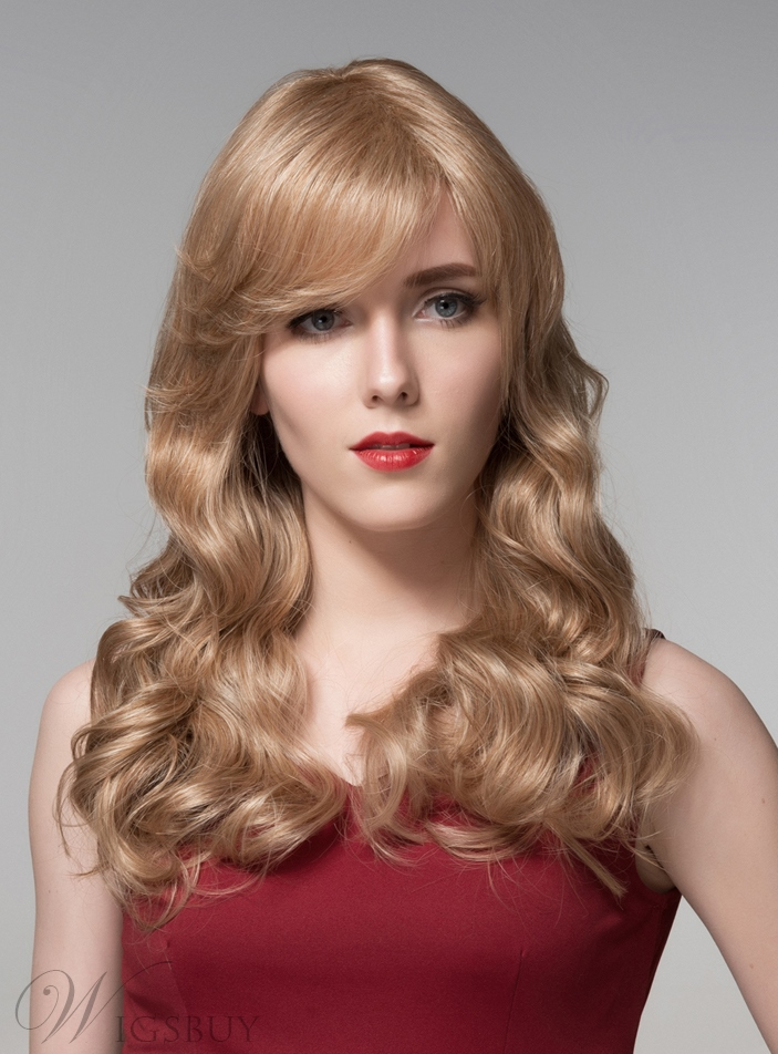 Mishair® Glamorous Long Wavy Capless Human Hair Wig 22 Inches 11919953