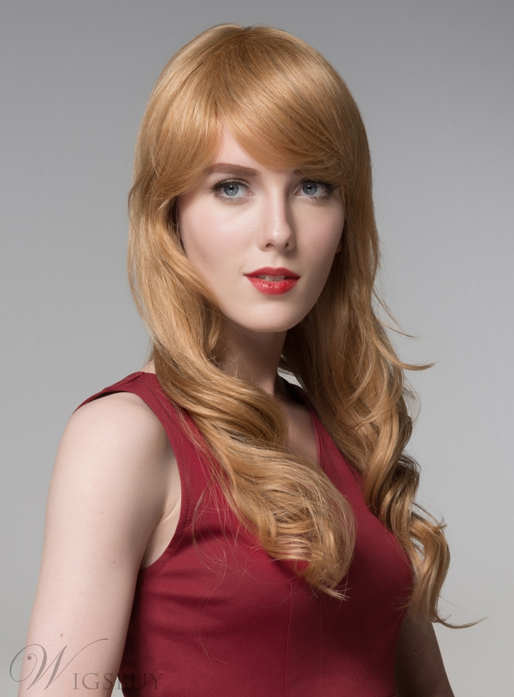Mishair? Elegant Long Wavy Capless Human Hair Wig 24 Inches 11919963