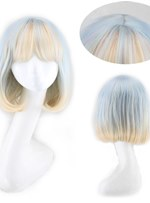 Cosplay Wigs Synthetic Hair Capless Wig With Bangs 14 Inches