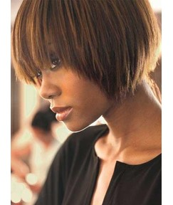 Cute Short Bob Straight Mono Top Human Hair Wig 10 Inches