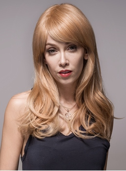 Mishair® Wavy Long Human Hair Capless Wigs 24 Inches