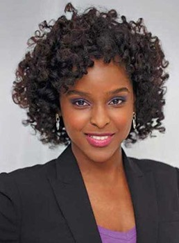 New Arrival Medium Kinky Curly Capless Synthetic Hair Wig 12 Inches