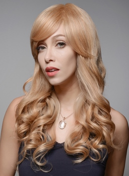 Mishair® Specila High Quality Long Wavy Human Hair Wigs 24 Inches