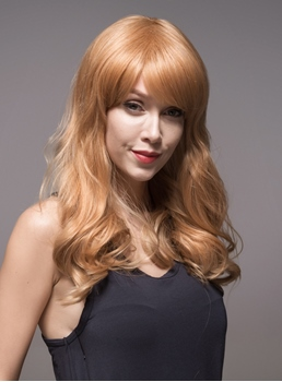 Mishair® Natural Wavy Long Graceful Human Hair Wig 22 Inches
