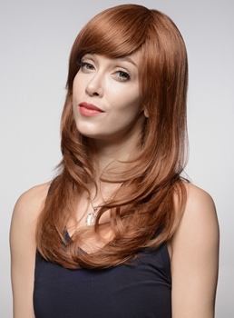 Mishair® Long Human Hair Capless Wig 22 Inches
