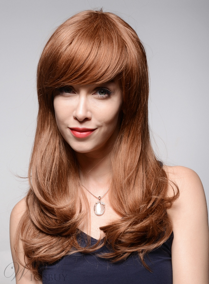 Mishair? Beautiful Loose Wavy Short Human Hair Capless Wigs 22 Inches 11949249