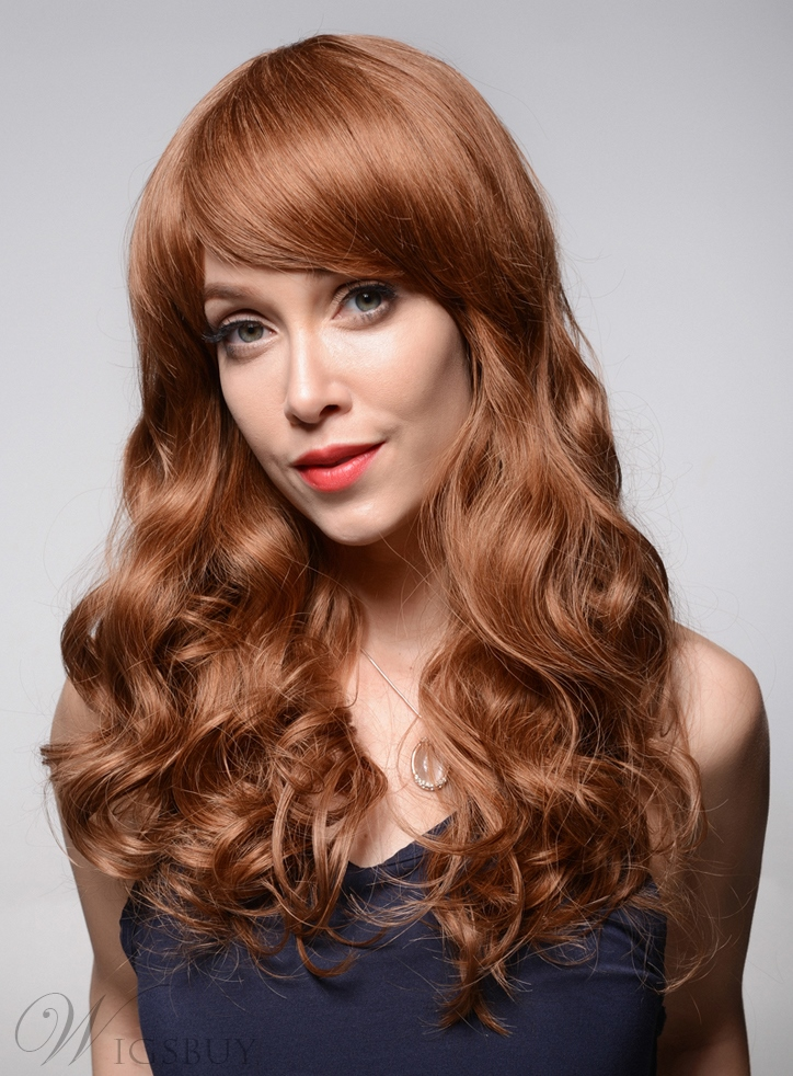 Mishair® Wavy Long Loose Wave Human Hair Capless Wigs 22 Inches 11949254