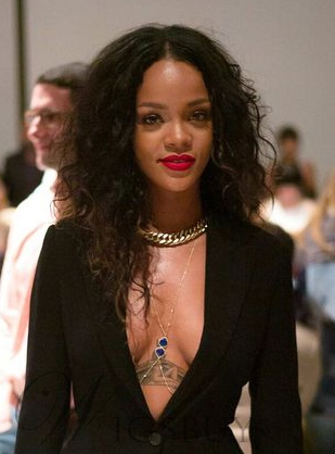 Rihanna Long Curly Lace Front Synthetic Hair Wigs 20 Inches