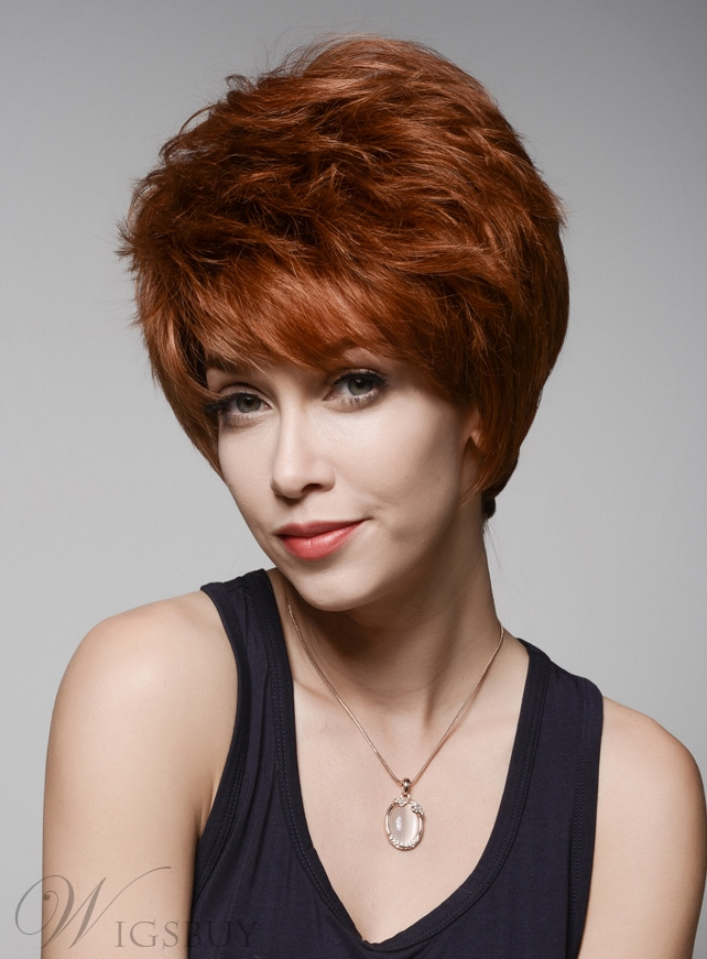 Mishair® Layered Short Beautiful Human Hair Capless Wig 6 Inches 11989493