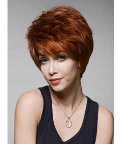 Mishair® Layered Short Beautiful Human Hair Capless Wig 6 Inches