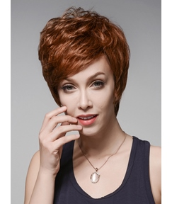 Mishair® Hot Sale Layered Short Straight Capless Human Hair Wig 6 Inches