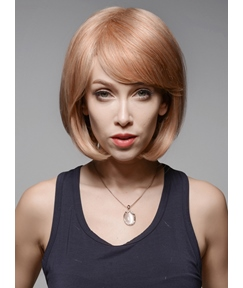 Mishair® Charming BOB High Quality #30/613 Human Hair Wigs 12 Inches