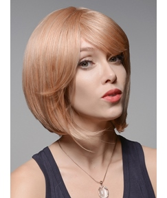 Mishair® Mid-length Bob #30/613 Human Hair Capless Wigs 12 Inches