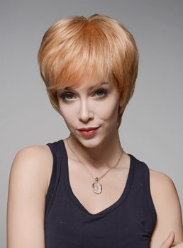 Mishair® Youthful Short Straight Human Hair Capless Wig 6 Inches