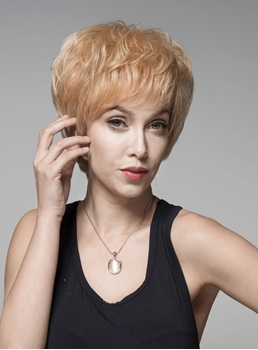 Mishair® Modern Short Straight Capless Human Hair Wig 6 Inches