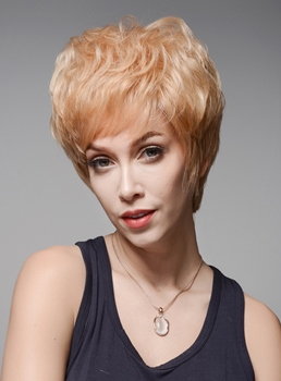 Mishair® Graceful Short Straight Human Hair Capless Wig 6 Inches