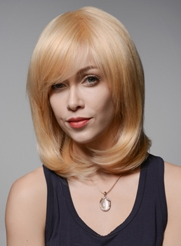 Mishair® Charming LOB High Quality 100% Human Hair Wigs 12 Inches