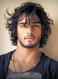 Cool Short Wavy Capless Synthetic Men's Wig 8 Inches