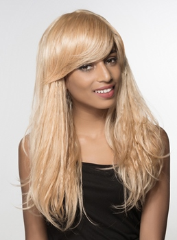 Mishair® Unique Long Curly Capless Human Hair Wig 24 Inches