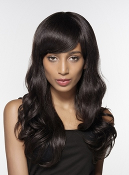 Mishair® Elegant Long Wavy Human Hair Capless Wig 24 Inches