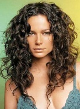 Attractive Long Curly Lace Front Human Hair Wig 24 Inches