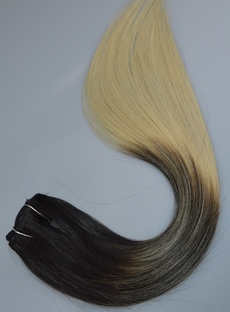 1B 613 Omber Straight Human Hair Weave 1 PC