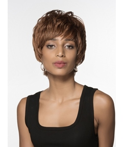 Mishair® Attractive Short Straight Capless Human Hair Wig 6 Inches