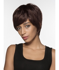 Mishair® Beautiful Short Straight Capless Human Hair Wig 6 Inches