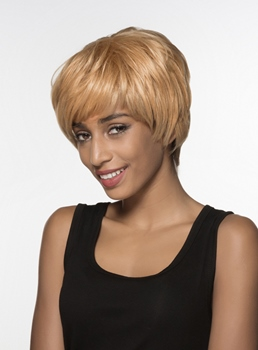 Mishair® Graceful Short Straight Capless Human Hair Wig 6 Inches