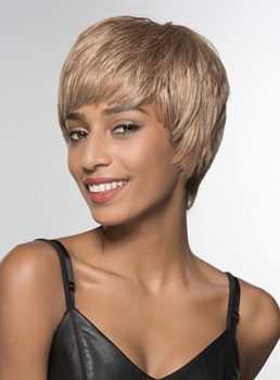 Mishair® Short Beautiful 100% Human Hair Capless Wig 6 Inches