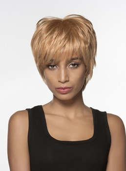 Mishair® African American Short Straight Human Hair Capless Wig 6 Inches