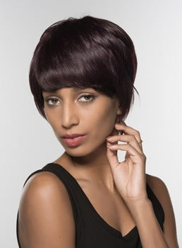 Mishair® Short Straight Capless Human Hair Wig 6 Inches