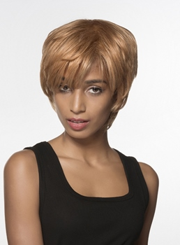 Mishair® Unique Short Straight Human Hair Capless Wig 6 Inches
