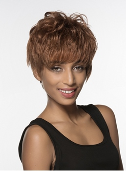 Mishair® Fashionable Fluffy Short Straight Capless Human Hair Wig 6 Inches
