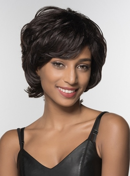 Mishair® African American Short Shaggy Wavy Human Hair Capless 6 Inches
