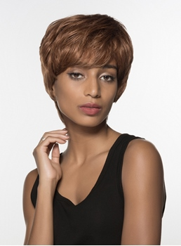 Mishair® African American Short Straight Capless Human Hair Wig 6 Inches