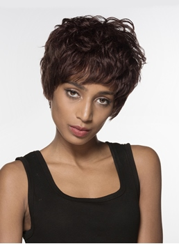 Mishair® Attractive Layered Short Straight Capless Human Hair Wig 6 Inches